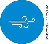 wind icon | Shutterstock .eps vector #477991465