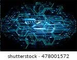 future technology  blue cyber