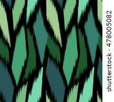 ikat seamless pattern design...   Shutterstock .eps vector #478005082