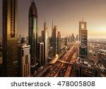 dubai skyline in sunset time ... | Shutterstock . vector #478005808