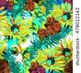 summer flower seamless pattern | Shutterstock . vector #478012162
