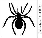 icon black spider. pattern for... | Shutterstock .eps vector #478012258