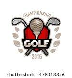 golf championship logo  labels... | Shutterstock .eps vector #478013356