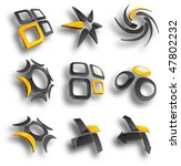 set of 3d vector icons such... | Shutterstock .eps vector #47802232