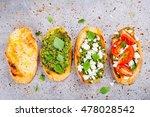 homemade bruschetta with pesto... | Shutterstock . vector #478028542
