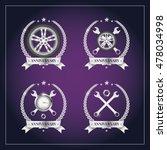 label anniversary  silver... | Shutterstock .eps vector #478034998