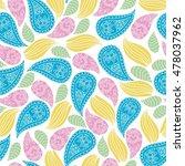 seamless vector floral pattern. ...   Shutterstock .eps vector #478037962