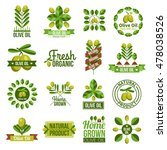 flat label set of natural olive ... | Shutterstock . vector #478038526