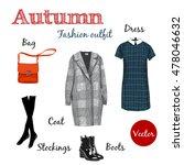 vector autumn collection ... | Shutterstock .eps vector #478046632