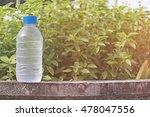 water bottle on concrete floor... | Shutterstock . vector #478047556