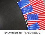 us flags on chalkboard... | Shutterstock . vector #478048072
