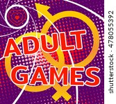 adult games print for t shirts  ... | Shutterstock .eps vector #478055392