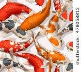 seamless koi carps | Shutterstock .eps vector #478058812