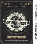 vector oktoberfest beer... | Shutterstock .eps vector #478060672
