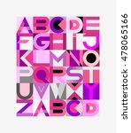 vector geometric font design.... | Shutterstock .eps vector #478065166
