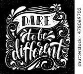 dare to be different... | Shutterstock .eps vector #478069702