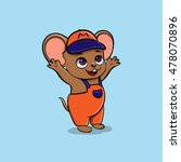 funny mouse in cartoon style.... | Shutterstock .eps vector #478070896