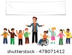 school class of youngsters. | Shutterstock .eps vector #478071412