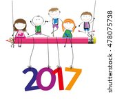 colorful card for new year 2017 ...   Shutterstock .eps vector #478075738