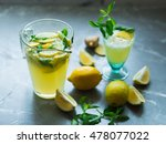 lemonade drink. lemonade in the ... | Shutterstock . vector #478077022