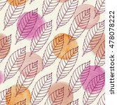 autumn seamless pattern with... | Shutterstock .eps vector #478078222