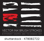set of vector black pen ink... | Shutterstock .eps vector #478082722