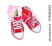 Sneakers Red. Shoes Athletic....
