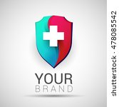 colorful medical secure logo... | Shutterstock .eps vector #478085542