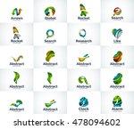 vector set of abstract unusual... | Shutterstock .eps vector #478094602