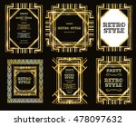 vector set retro pattern for... | Shutterstock .eps vector #478097632