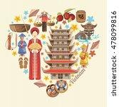travel to vietnam. set of... | Shutterstock .eps vector #478099816