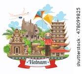 travel to vietnam. set of... | Shutterstock .eps vector #478099825