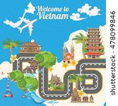 travel to vietnam. set of... | Shutterstock .eps vector #478099846