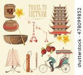 travel to vietnam. set of... | Shutterstock .eps vector #478099852