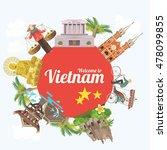 travel to vietnam. set of... | Shutterstock .eps vector #478099855