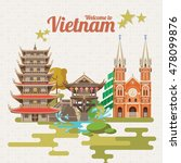 travel to vietnam. set of... | Shutterstock .eps vector #478099876