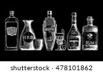 set of bottles of alcohol in... | Shutterstock . vector #478101862
