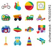 toys collection isolated on... | Shutterstock .eps vector #478103392