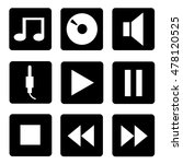 audio icons flat style set | Shutterstock .eps vector #478120525