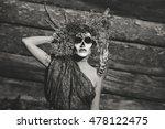 santa muerte halloween costume. ... | Shutterstock . vector #478122475
