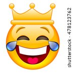laughing face with crown | Shutterstock .eps vector #478123762