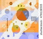 retro background. pop art... | Shutterstock .eps vector #478128535