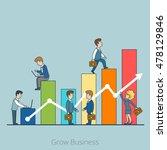 linear flat businesspeople... | Shutterstock .eps vector #478129846