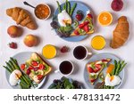 table with breakfast  ... | Shutterstock . vector #478131472