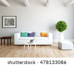 white room with sofa. living... | Shutterstock . vector #478133086