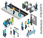 metro underground station... | Shutterstock . vector #478135975