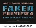 mosaic style alphabet letters... | Shutterstock .eps vector #478137835