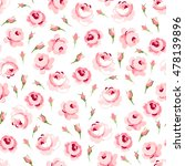 seamless floral pattern with... | Shutterstock .eps vector #478139896