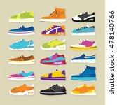 big hand drawn sneaker shoes... | Shutterstock .eps vector #478140766