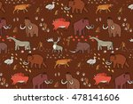 mammoth era pattern | Shutterstock .eps vector #478141606